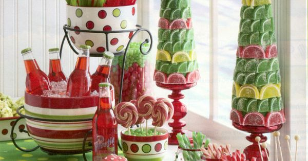 Christmas, 2013 Christmas Centerpiece Ideas Decoration : Candy Topiaries For Christmas Centerpiece