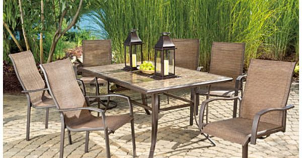View Wilson & Fisher Chesapeake 7 Piece Dining Set Deals at Big Lots
