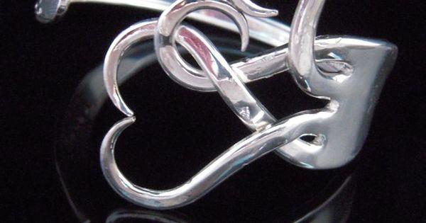 Fork Heart Bracelet
