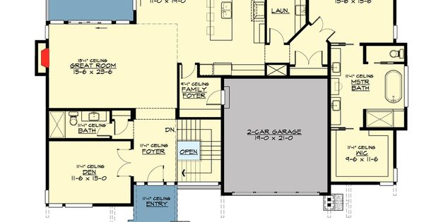 Plan 23622jd 4 bed modern house plan for the sloping lot Sloped lot house plans walkout basement