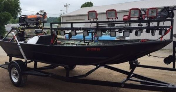 Alweld 1860 aluminum bowfishing boat duck gator commercial for Bow fishing boats