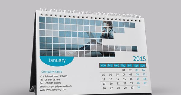 2015 Corporate Desk Calendar Template Psd On Behance