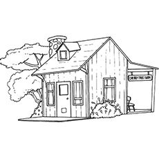 Top 20 Free Printable House Coloring Pages Online Farm Coloring Pages House Colouring Pages Farm Animal Coloring Pages
