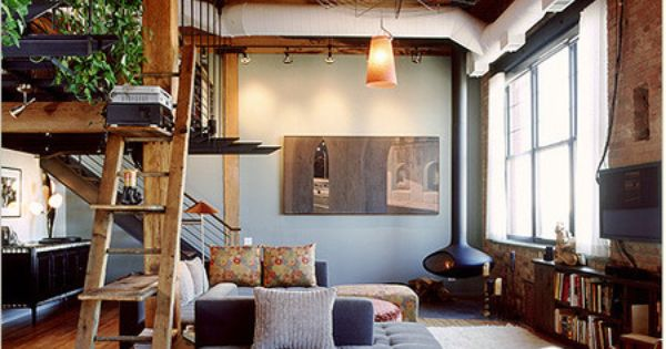 "a warm and cozy loft space. the ""womanspace"" - add more books"