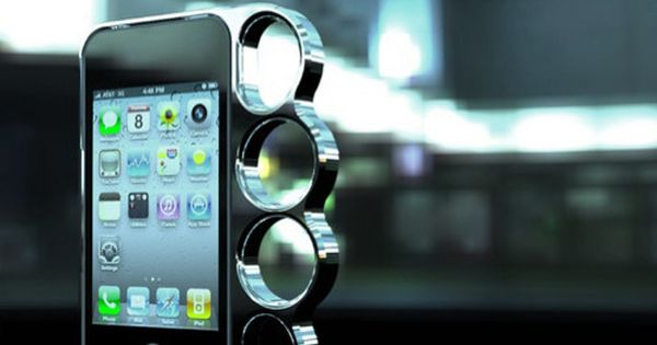 Brass knuckles iPhone case? Yes.