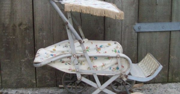 Vintage Cumfifolda 1960 S Childrens Dolls Pushchair