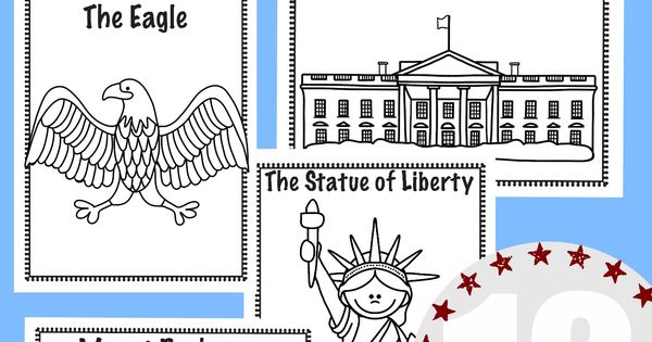 national symbols coloring pages - photo#2