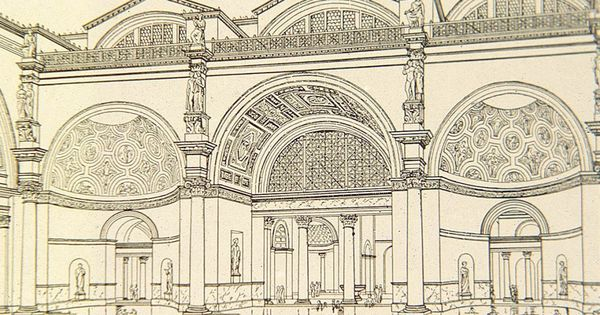 Reconstruction drawing, Baths of Caracalla, from Sir ... Baths Of Caracalla Reconstruction