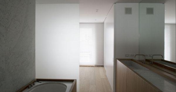 hout/marmer  badkamer  Pinterest
