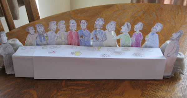 Last Supper Craft We Did This And The Boys Really