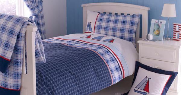Blue Sail Away Collection Bedlinen Duvet Bed Home