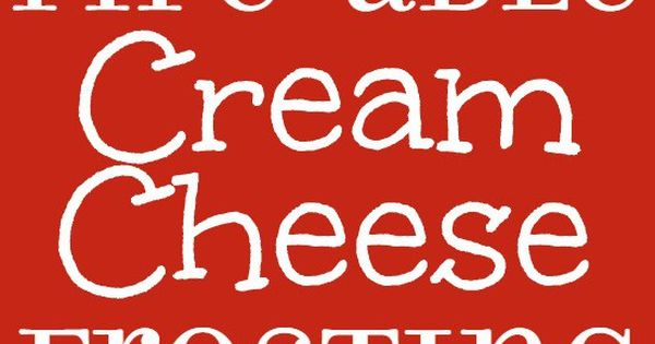 Cream cheese frosting, Frostings and Cream cheeses on Pinterest