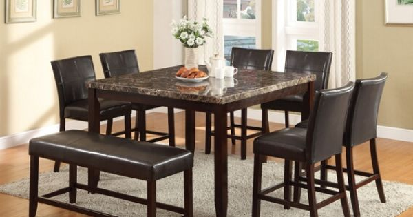 8 pc Idris collection faux marble top counter height  : 675e75ddf3bef16dacadd43267adb348 from www.pinterest.com size 600 x 315 jpeg 33kB