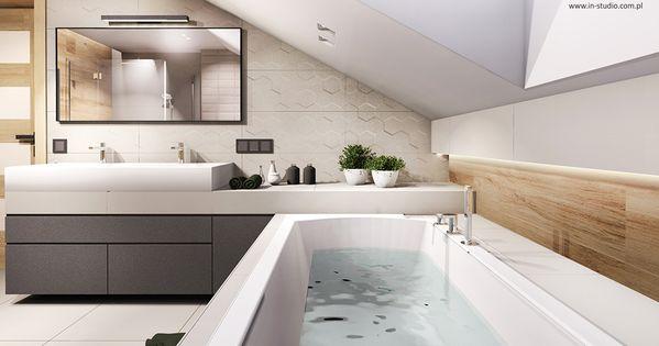 Lazienka Na Poddaszu Bathroom By In Studio Www In Studio Com Pl House Bathroom Bathroom Interior Attic Bedroom Designs