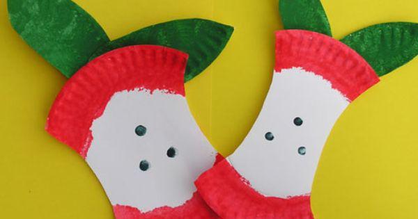 Preschool apple craft - link is lost but idea is self-explanatory
