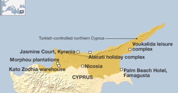 Map Primarily Shows Details Of Northern Cyprus To Include Various - Northern cyprus map