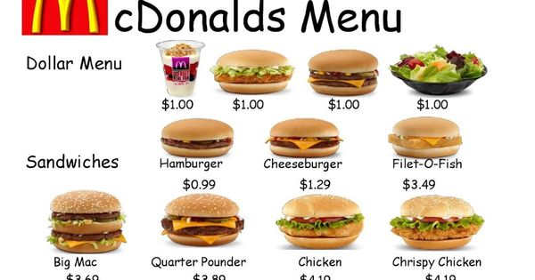 Last Week I Posted A Picture Menu Eating Out Featuring Items My Students Frequently Order When We Walk To Mcd S H Menu Math Math Worksheets Food Worksheet Menu math worksheets printable