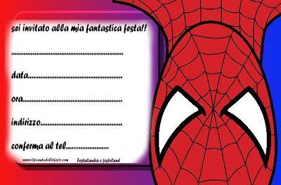 Festalandia E Festeland Spiderman Party Inviti Di Compleanno Inviti Alla Festa Di Compleanno Festa Di Compleanno Supereroe