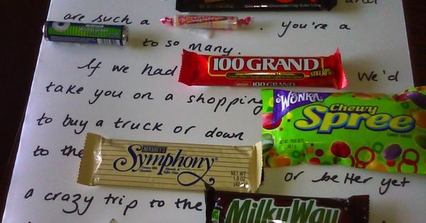 Candy Bar Poem. A thoughtful and easy gift. I think it is