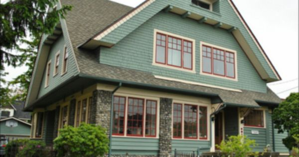 2 Window Trim Redwood Brown Exterior Home Paint Pinterest Bungalows Bungalow And