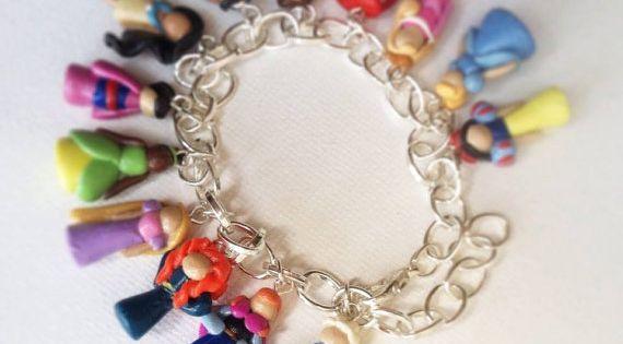 Disney Princess Inspired Polymer Clay Charm Bracelet