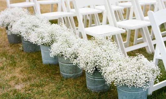 DIY Wedding Aisle Decoration Ideas - Babys Breath Ceremony Decor -my sis