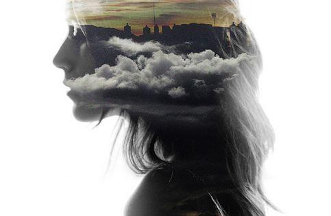 Double exposure silhouette