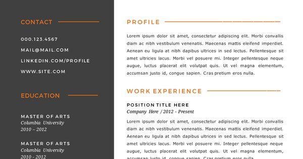 Burnt Orange Resume Examplessample resume templatessample resume