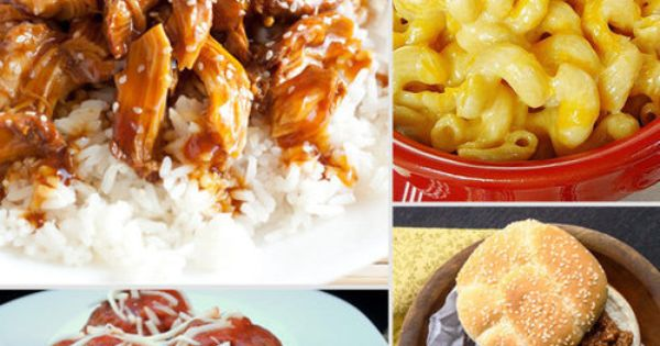 12 Easy, Kid-Friendly Slow Cooker Dishes Lasagna, Mac and Cheese, Chicken Parmesan...yum!