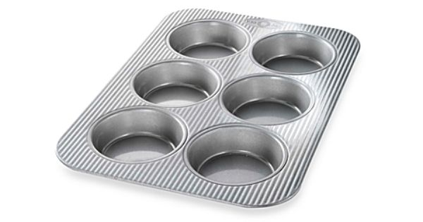 Usa Pan Nonstick 6 Cavity Mini Round Cake Pan Bed Bath Beyond Mini Cake Pans Round Cake Pans Usa Pan Bakeware