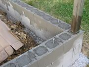 How To Build A Mortarless Concrete Stem Wall Cinder Block Walls Building A Shed Concrete Block Walls