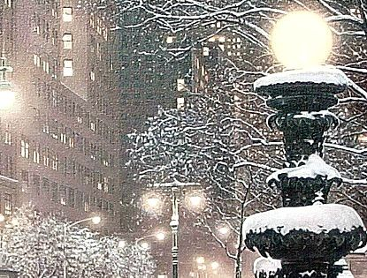 Winter in Manhattan by Rod Chase