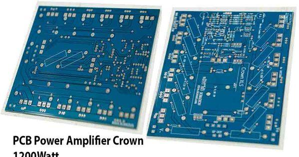 Pcb Power Amplifier Crown 1200w Power Amplifiers Amplifier Crown Amplifier