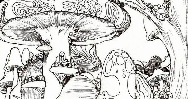 trippy coloring pages mushrooms nutrition - photo#33