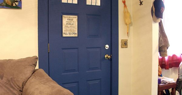 "I love the TARDIS door!! ""One of these days, I am going"