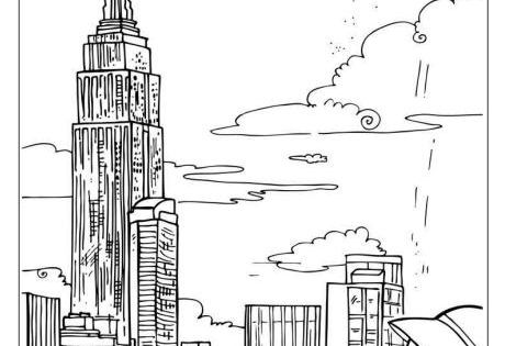 empire state building colouring page coloring pages