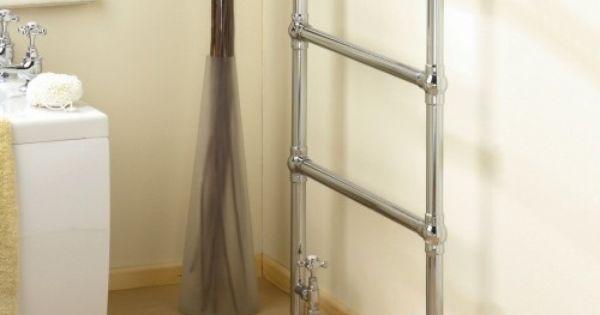 Radiateur rail en chrome de salle de bains chauffe for Radiateur chauffe serviette salle de bain