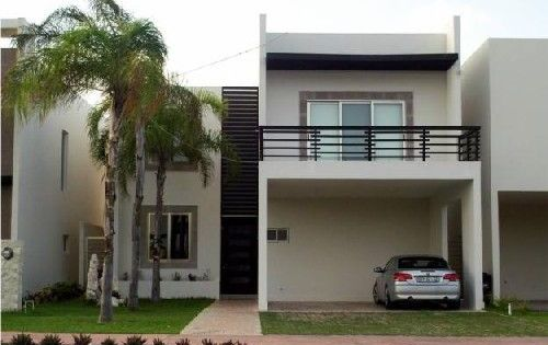 Fachadas de casa minimalistas de dos plantas con jardin - Casas de dos plantas modernas ...