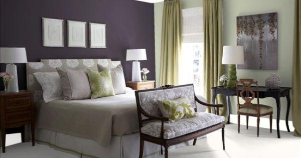 Martha stewart purple elderberry behr ultra enviornmental for Master bedroom paint ideas martha stewart