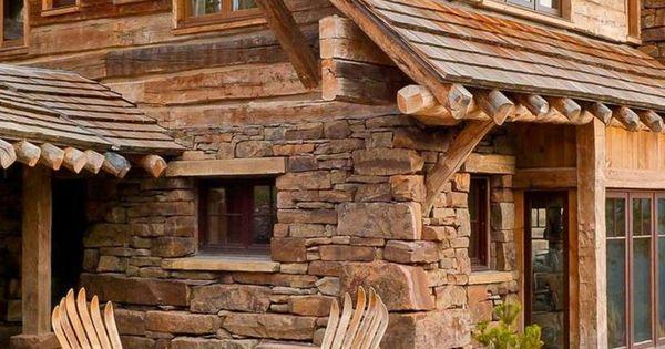quel type d int rieur pour votre chalet en bois habitable murs de pierre jolie maison et. Black Bedroom Furniture Sets. Home Design Ideas