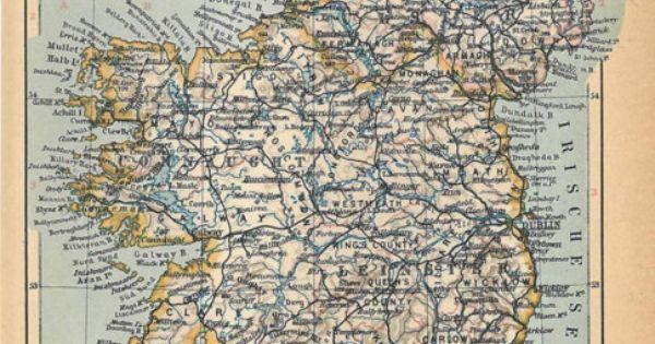 Ireland Vintage Map (1928)