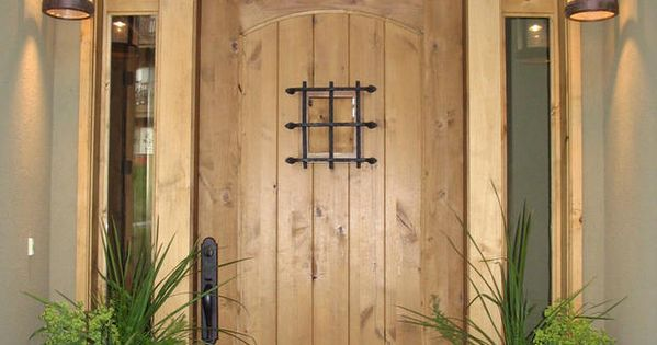 front door color ideas with lantern. I love the rustic look of