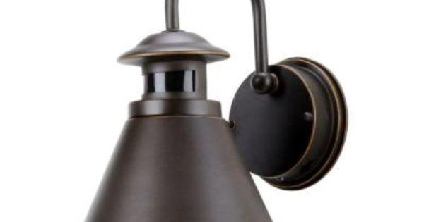 Hampton Bay 180 Degree Oil Rubbed Bronze Motion Sensing Outdoor Wall Lantern Wall Lantern