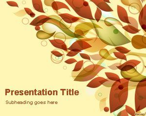 Autumn Leaves Powerpoint Template Is A Free Powerpoint