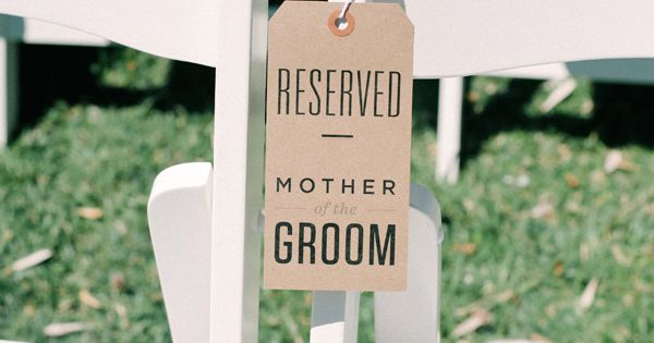 "So cute! Make your moms feel special by adding a ""Reserved"" sign"
