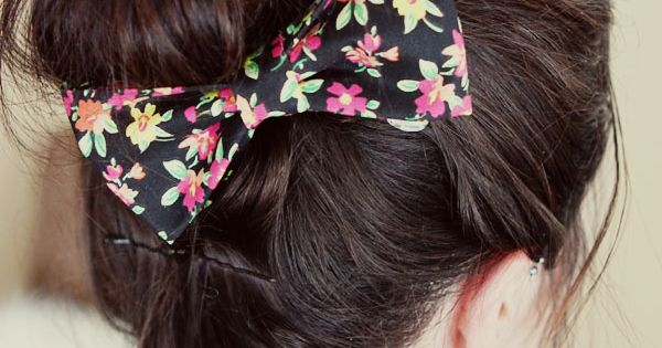 Diy no sew bow tutorial
