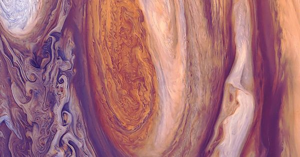 Jupiter's Great Red Spot (GRS)- abstract art from the planets!