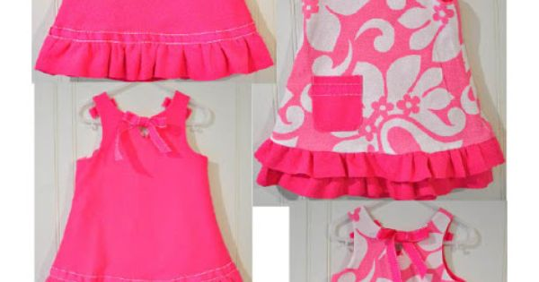 Reversible ribbon dress tutorial - use with any A-line dress pattern
