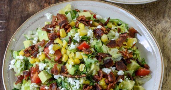 BLT Chopped Salad with Corn, Feta + Avocado | Blt Chopped Salads ...