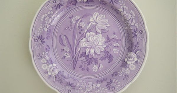 lavender purple toile transferware - photo #18